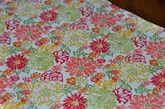 Beautiful custom floral weighted blanket. via Etsy.