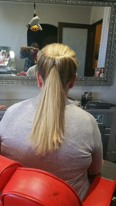 Inside out ponytail. www.cristinacrawford.com