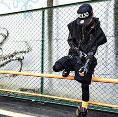 Urban/street fashion, all black, blvck fashion, KTZ