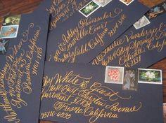 Items similar to Wedding Calligraphy Invitation Envelope Addressing / Handwritten Envelope / Wave Calligraphy Envelope / Modern Calligraphy Addressing on Etsy Calligraphy Envelope, Calligraphy Letters, Wedding Calligraphy, Typography Letters, Modern Calligraphy, Wedding Stationery, Wedding Invitations, Beautiful Calligraphy, Invites