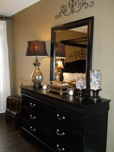 Tall Dresser with Decor #MasterBedRoom | Our room | Pinterest ...
