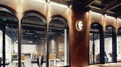 Interior Design Addict: | Interior Design Addict Restaurant Facade, Mall Facade, Retail Facade, Shop Facade, Facade House, Restaurant Design, Shoe Store Design, Retail Store Design, Minimalist Architecture