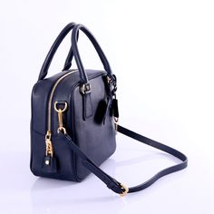 2fa69f21b87 Copy BL0757BCP BL0757 Blue Cross pattern full leathe Sale prada replica  handbags