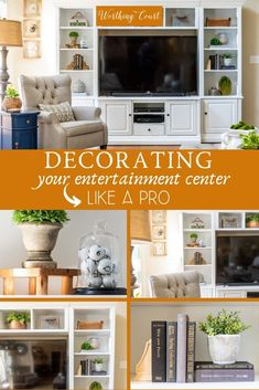 Cozy Home Interior 12 Tips and secrets for decorating your entertainment center like a pro. Home Interior 12 Tips and secrets for decorating your Quirky Home Decor, Fall Home Decor, Vintage Home Decor, Luxury Homes Interior, Home Interior, Interior Plants, Cheap Rustic Decor, Cheap Home Decor, Styling Bookshelves