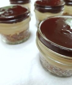 Tippy Top Peanut Butter Pies for the Lunch Box in jars