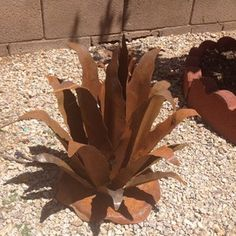 metal cactus yard art for sale | Agave Cactus Metal Yard Art Ornament | eBay