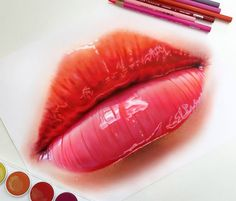 Pencil Drawing Tips lips color pencil drawing - Realistic Pencil Drawings requires a lot of practice to achieve the desired results. The tools which are required are some print-making paper or any paper which can soak up enough graphite, use the Illustration Au Crayon, Illustration Photo, Illustrations, People Illustration, Realistic Pencil Drawings, Art Drawings, Detailed Drawings, Sick Drawings, Colorful Drawings