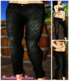 Mesh Jeans Skinny - Black Tiger
