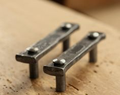 Drawer Pulls Set Of 3 Lithops Tenon By Blackturtlemetals