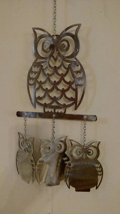 Check out this item in my Etsy shop https://www.etsy.com/listing/241085914/wise-old-owl-wind-chime