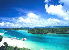 Kabira Bay, home of Japanese cultivated pearls. Ishigaki island, Okinawa.