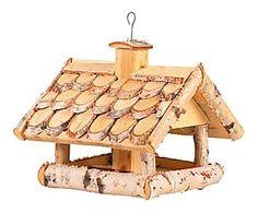 Mangeoire à oiseaux HOME bois de bouleau, naturel - L38