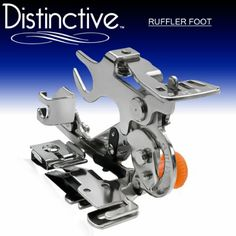 Amazon.com: Distinctive Ruffler Sewing Machine Presser Foot - Fits All Low Shank (Top-Loading Drop-In Bobbin Machines Only) Singer, Brother,...