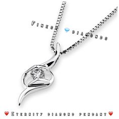Eternity diamond pendant in 18K White gold with diamonds. Love ❤️+= Eternity...#finestdiamonds www.finestdiamonds.com.au