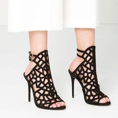 OPENWORK LEATHER SANDALS-SHOES-WOMAN-COLLECTION AW16 | ZARA United States