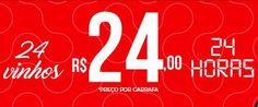 Evino - 24 Vinhos 24 Horas R$ 24 por Garrafa