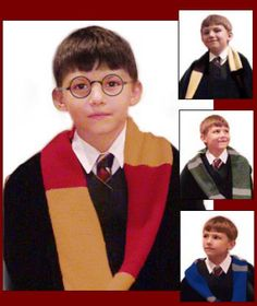 Easy Harry Potter scarves for lower and upper years.