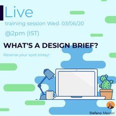 Join me in a live session and discover how to put your business idea on paper and getting your team on board on your innovation process - stefano.tips/DesignBrief 🚀  #Innovation #DesignThinking #Creativity #Webinar #Live #DesignStrategy #Startup #Disrupt #Founder #Growth