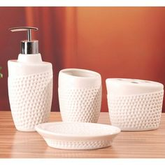 buyinvite.com.au - eDispenser Sets-2153-white Bathroom Accessories Sets, Bathroom Sets, Bathroom Soap Dispenser, Mens Designer Brands, Home Interior Design, Fragrance, Home And Garden, House Design, Ceramics