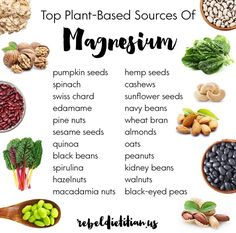 Top palnt-based soures of magnesium. Low magnesium is linked with an increase in inflammation #plantbased