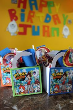 Yokai Watch favor bags yokai birthday