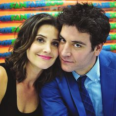 ted and robin How I Met Your Mother, Ted Und Robin, Marshall And Lily, Mejores Series Tv, Ted Mosby, Mother Photos, Movie Couples, Himym, I Meet You