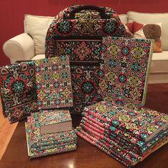 Sierra Pattern, Vera Bradley, matching notebooks, matching backpack, back yo school