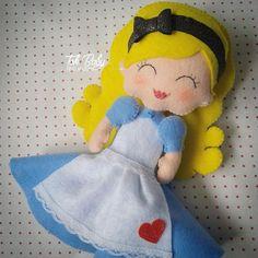 Alice no País das Maravilhas de feltro