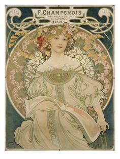 Poster for F. Champenois, 1897 Giclee Print by Alphons Mucha at AllPosters.com