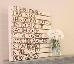 make family goals! and hang them up so we and others know what we are striving for