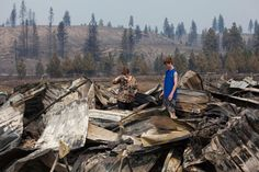 BBB teams ups with state agencies to help combat charity scams surrounding the Central Washington fires. Photo courtesy of NBC News. http://bbb.org/h/6rq