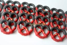 Red Black Yellow Buttons Boy Birthday Party Favors Boy Birthday Cookies…