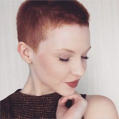 """Pixie Chat on Twitter: """"In love with @annettaprimadonna's new #buzzcut. Check out her feed to see the before pic. … https://t.co/kHaAissMMf https://t.co/AjqqQI8aU7"""""""