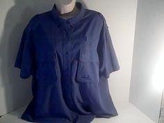 Cabelas Womens XL Reg Blue Fishing Shirt  Nylon Polyester #Cabelas #fishing #Casual