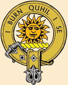 "MacLeod of Lewis clan badge - translation ""I Shine, Not Burn""."