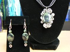 kambaba necklace and earrings.  Kambaba is supposed to be the keeper of the forest.