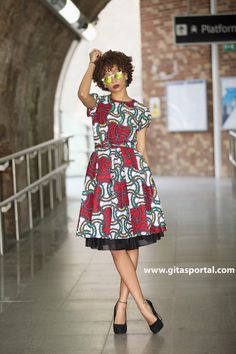 NEW Red Alice-in-wonderland dress by GITAS PORTAL by GitasPortal