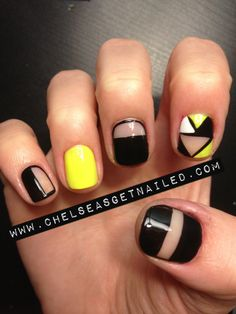 Cut Out Nails ❣ Chelsea's Get Nailed I don't like the brown but the rest is really pretty!