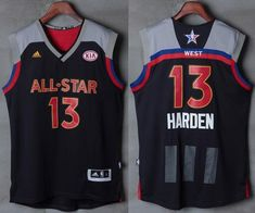 d5cd4544bbc Men s Western Conference Houston Rockets James Harden adidas Black Charcoal  2017 NBA All-Star Game Swingman Jersey