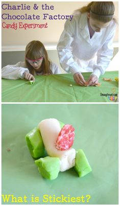 Charlie and the Chocolate Factory Candy Experiments - make a candy sculpture to see what candy is the stickiest!