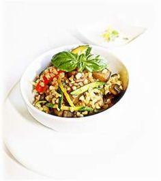 Buglur con verdure saltate e peperone in agrodolce