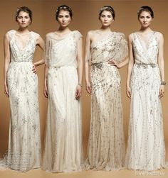 Jenny Packham designs - love third from left especially