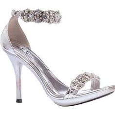 rhinestone high heel sandals