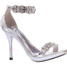 rhinestone high heel sandals