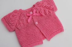Pink Leaves Bolero. 6-12M. by tlcrochetknitting on Etsy