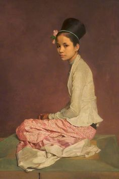 """Burmese silk"" 1932-1944 (106,5x73) Sir Gerald Festus Kelly (Londra 1879 - Exmouth 1972) Rochdale arts & Heritage Service Collection"