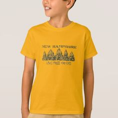 #New Hampshire Live Free T-Shirt - #cool #kids #shirts #child #children #toddler #toddlers #kidsfashion