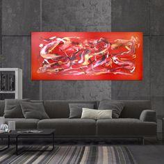 extra large abstract art red abstract by Paresh Nrshinga www.artnrshinga.com