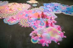 Colorful Psychedelic Installations of Sugar and Candy by Australian artist Tanya Schultz