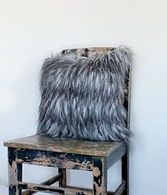 Grizzly Yak Faux Fur Cushion Cover Faux fur by northwestdecor